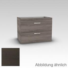Artiqua 411 Waschtischunterschrank mit 2 Auszügen Front mokka struktur / Korpus mokka struktur