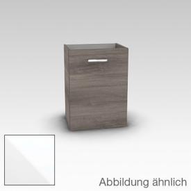 Artiqua 412 Handwaschbeckenunterschrank mit 1 Tür Front weiß hochglanz / Korpus weiß glanz