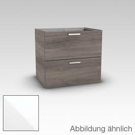 Artiqua 412 Waschtischunterschrank mit 2 Auszügen Front weiß glanz / Korpus weiß glanz