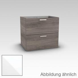 Artiqua 412 Waschtischunterschrank mit 2 Auszügen Front weiß hochglanz / Korpus weiß glanz