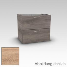 Artiqua 412 Waschtischunterschrank mit 2 Auszügen Front castello eiche / Korpus castello eiche