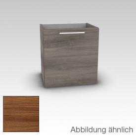 Artiqua 413 Handwaschbeckenunterschrank B: 38 H: 48,7 T: 28.5 cm, 1 Tür, Anschlag links, Griff D170 Front kirsche struktur / Korpus kirsche struktur