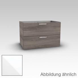 Artiqua 413 Waschtischunterschrank mit 2 Auszügen Front weiß hochglanz / Korpus weiß glanz