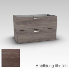 Artiqua 413 Waschtischunterschrank mit 2 Auszügen Front pinie braun / Korpus pinie braun