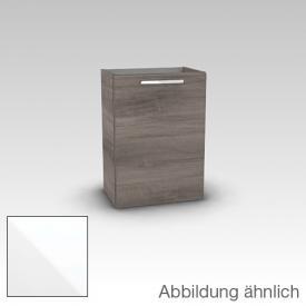 Artiqua 414 Waschtischunterschrank mit 1 Tür Front weiß glanz / Korpus weiß glanz