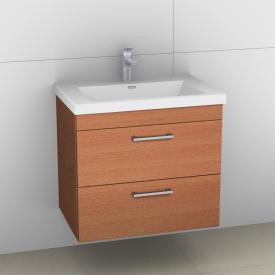 Artiqua 414 Waschtischunterschrank mit 2 Auszügen mit Griff D170 Front natur struktur / Korpus natur struktur