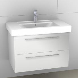 Artiqua 414 Waschtischunterschrank B: 75 H: 49,3 T: 46,9 cm, 2 Auszüge, Griff I449 Front weiß glanz / Korpus weiß glanz