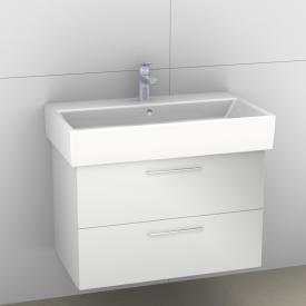 Artiqua 414 Waschtischunterschrank B: 75 H: 49,5 T: 43,9 cm, 2 Auszüge, Griff G Front weiß hochglanz / Korpus weiß glanz