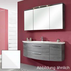 Artiqua Serie 818 Block 8 mit Waschtischunterschrank mit 2 Auszügen und Waschtisch Front weiß glanz / Korpus weiß glanz