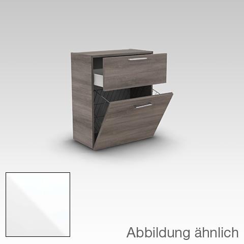 artiqua 400 midischrank mit 1 auszug und 1 w schekippe front wei hochglanz korpus wei glanz. Black Bedroom Furniture Sets. Home Design Ideas