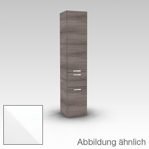 Artiqua 400 Hochschrank mit 1 Tür, 1 Auszug und 1 Wäscheklappe weiß glanz