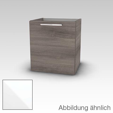 Artiqua 414 Handwaschbeckenunterschrank mit 1 Tür Front weiß hochglanz / Korpus weiß glanz