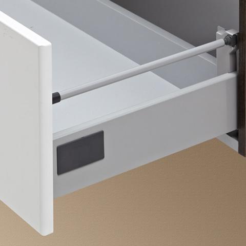 Artiqua 822 Mineralmarmor-Waschtisch mit WT-Unterschrank und 3 D-LED-Spiegelschrank Front verspiegelt/graphit struktur / Korpus graphit struktur