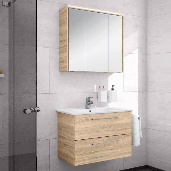 Artiqua 890 Block Waschtisch Mit Waschtischunterschrank Und Led