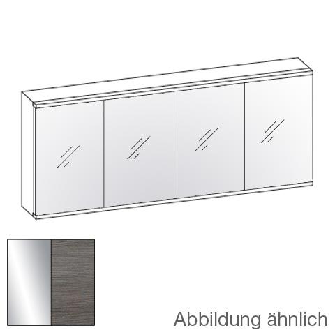 Artiqua 112 LED-Spiegelschrank mit 4 Türen Front verspiegelt / Korpus graphit struktur