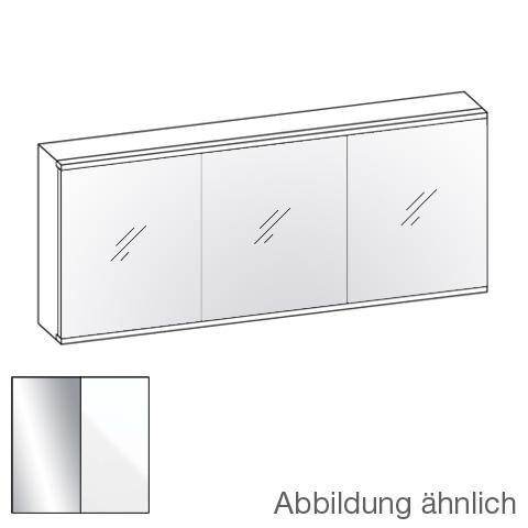 Artiqua 211 LED Spiegelschrank mit 3 Türen Front verspiegelt / Korpus weiß glanz