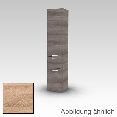 Artiqua 400 Hochschrank mit 2 Türen und 1 Auszug Front castello eiche / Korpus castello eiche