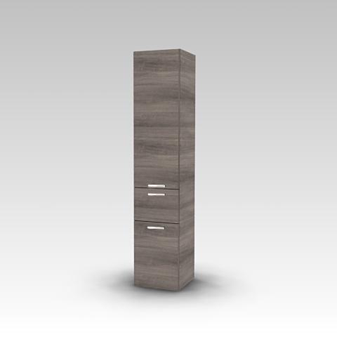 Artiqua 400 Hochschrank mit 2 Türen und 1 Auszug Front graphit struktur / Korpus graphit struktur