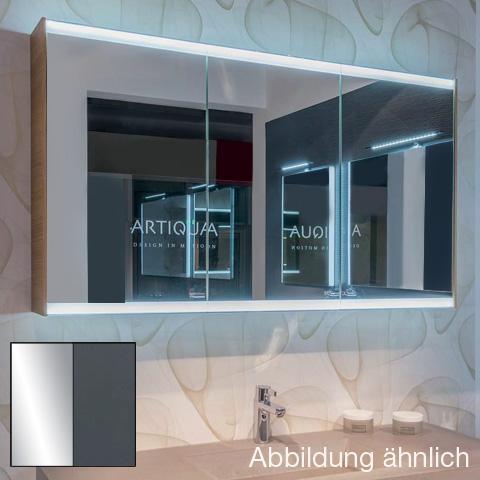 Artiqua 400 LED-Spiegelschrank mit 3 Türen Front verspiegelt / Korpus anthrazit glanz