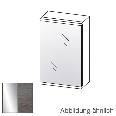 Artiqua 400 LED-Spiegelschrank mit 1 Tür Front verspiegelt / Korpus graphit struktur