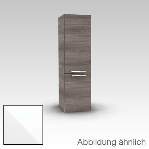 Artiqua 400 Midischrank mit 2 Türen Front weiß glanz / Korpus weiß glanz