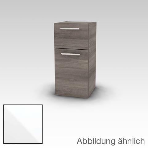 Artiqua 400 Midischrank mit 1 Tür und 1 Auszug Front weiß glanz / Korpus weiß glanz