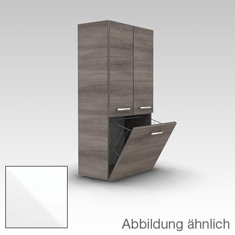 Artiqua 400 Midischrank mit 2 Türen und 1 Wäschekippe Front weiß glanz / Korpus weiß glanz