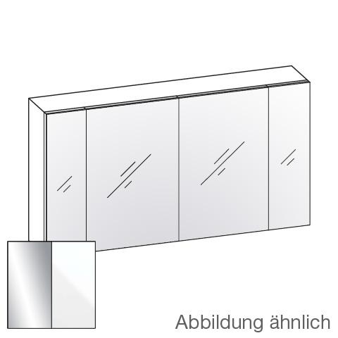 Artiqua 400 Spiegelschrank mit 4 Türen Front verspiegelt / Korpus weiß glanz