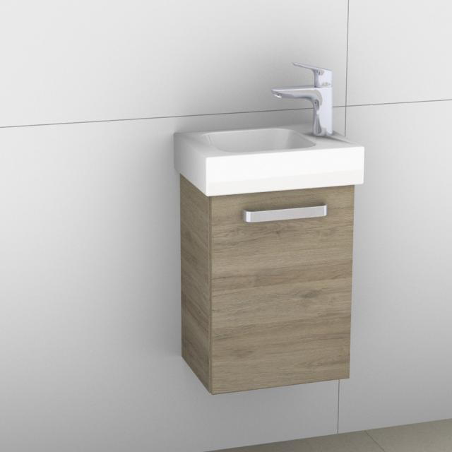 Artiqua 413 Handwaschbeckenunterschrank mit 1 Tür Front sanremo eiche  / Korpus sanremo eiche