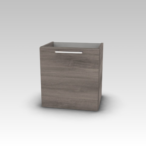Artiqua 413 Handwaschbeckenunterschrank mit 1 Tür Front graphit struktur / Korpus graphit struktur
