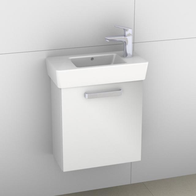 Artiqua 413 Handwaschbeckenunterschrank mit 1 Tür Front weiß glanz / Korpus weiß glanz