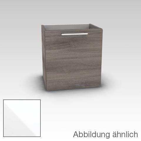 Artiqua 413 Handwaschbeckenunterschrank mit 1 Tür Front weiß hochglanz / Korpus weiß glanz