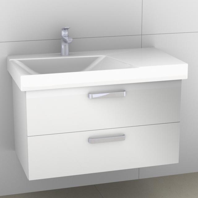 Artiqua 413 Waschtischunterschrank mit 2 Auszügen Front weiß glanz / Korpus weiß glanz