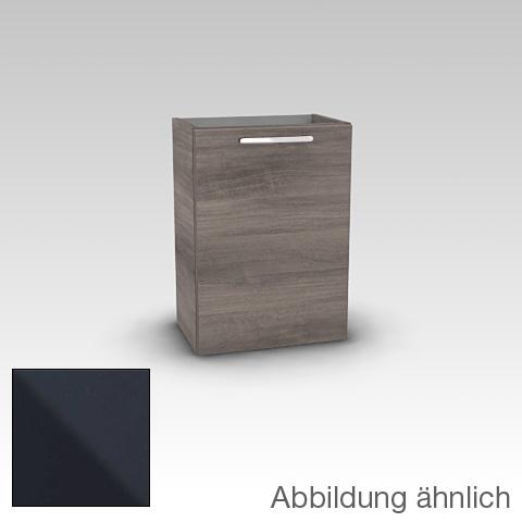 Artiqua 414 Handwaschbeckenunterschrank mit 1 Tür Front anthrazit glanz / Korpus anthrazit glanz