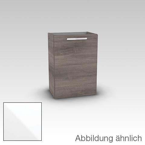Artiqua 414 Handwaschbeckenunterschrank mit 1 Tür Front weiß glanz / Korpus weiß glanz