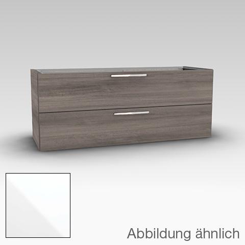 Artiqua 414 Waschtischunterschrank mit 2 Auszügen Front weiß hochglanz / Korpus weiß glanz