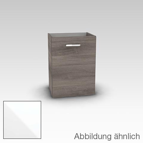 Artiqua 415 Handwaschbeckenunterschrank mit 1 Tür Front weiß hochglanz / Korpus weiß glanz