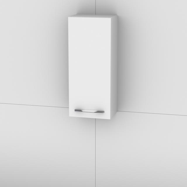 Artiqua 818 Wandschrank mit 1 Tür Front weiß hochglanz / Korpus weiß glanz