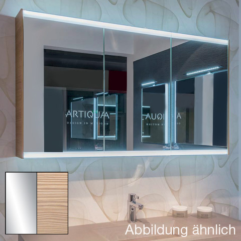 Artiqua 400 LED Spiegelschrank B: 128,5 H: 73 T: 16 cm Front