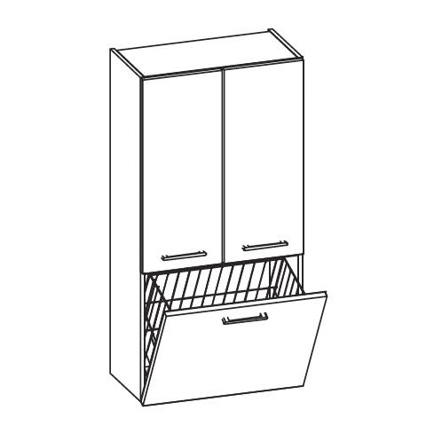 artiqua 400 midischrank mit 2 t ren und 1 w schekippe front wei hochglanz korpus wei glanz. Black Bedroom Furniture Sets. Home Design Ideas
