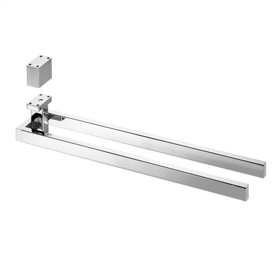 Avenarius Handtuchhalter für Untertischmontage, zweiarmig T: 424 mm