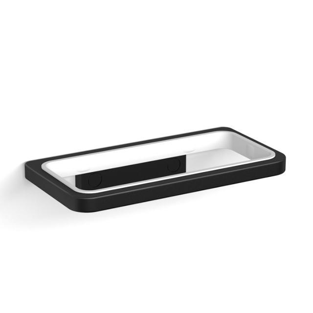 Avenarius Serie 480 Halter doppelt, Wandmodell schwarz matt