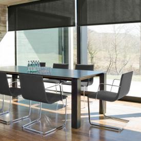 Andreu World Lineal Corporate Freischwinger mit Armlehnen, Stoff