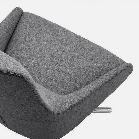 Andreu World Alya Sessel mit hoher Rückenlehne, Stoff