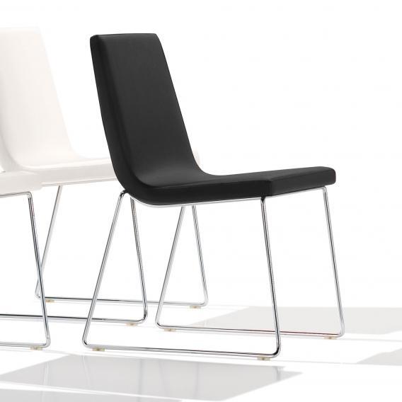 Andreu World Lineal Comfort Stuhl, Echtleder