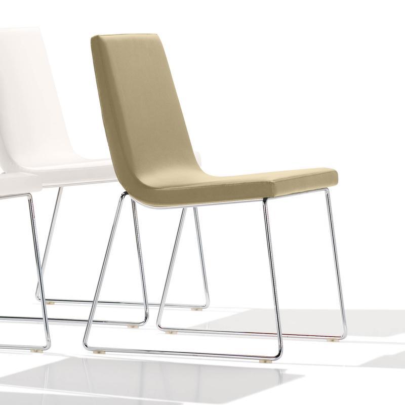 Andreu World Lineal Comfort Stuhl Echtleder Si 05941805 Reuter