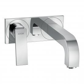 AXOR Citterio Einhebel-Waschtischarmatur mit Ablaufgarnitur, für Wandmontage