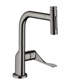 AXOR Citterio Select Einhebel-Küchenmischer 230 2jet mit Ausziehbrause und sBox schwarz chrom