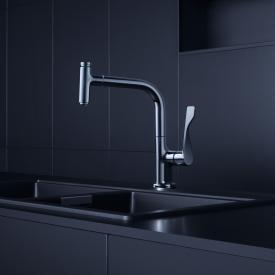 AXOR Citterio Select Einhebel-Küchenmischer 230 mit Ausziehbrause chrom