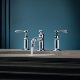 AXOR Montreux 3-Loch-Waschtischarmatur 30 mit Hebelgriffen mit Ablaufgarnitur, chrom